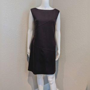 BURBERRY London brown lana wool shift dress